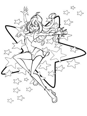 Coloriages winx - Coloriage winx bloom ...